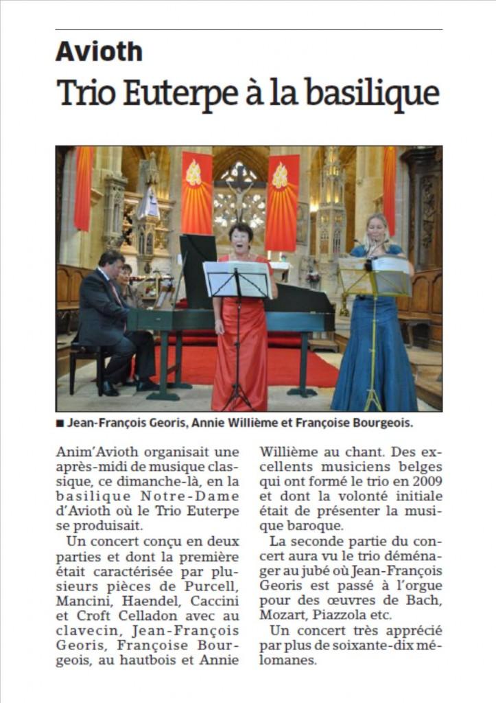 Trio Euterpe 31 août